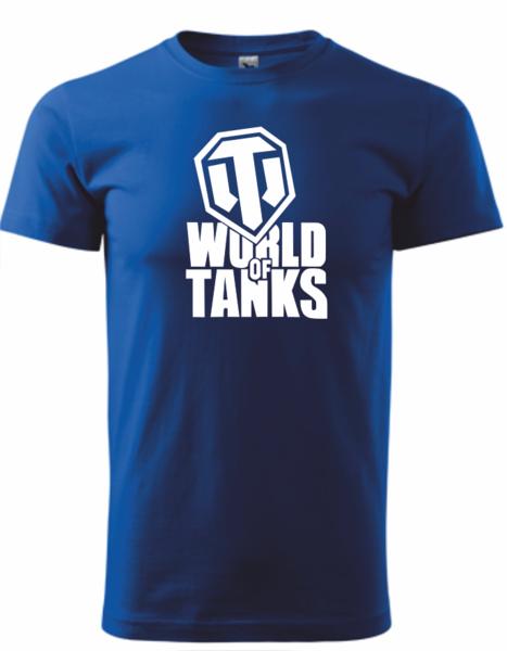 Tričko World of tanks XL královská modrá