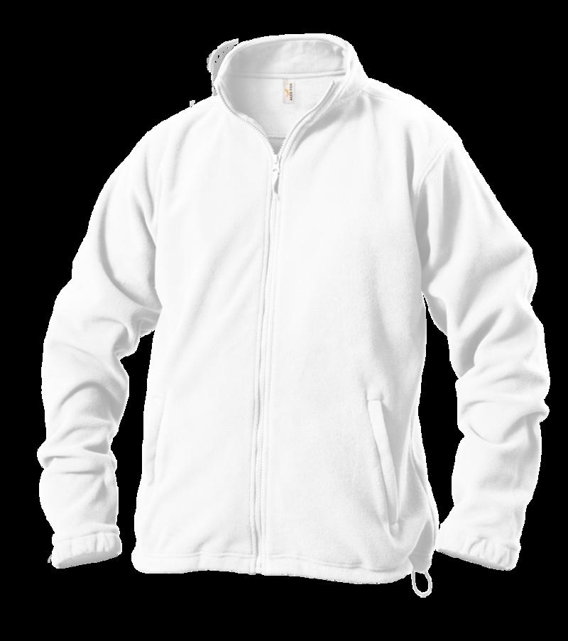Pánská mikina fleece S bílá