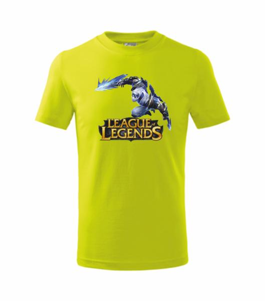 Tričko League of legends 3 L limetková