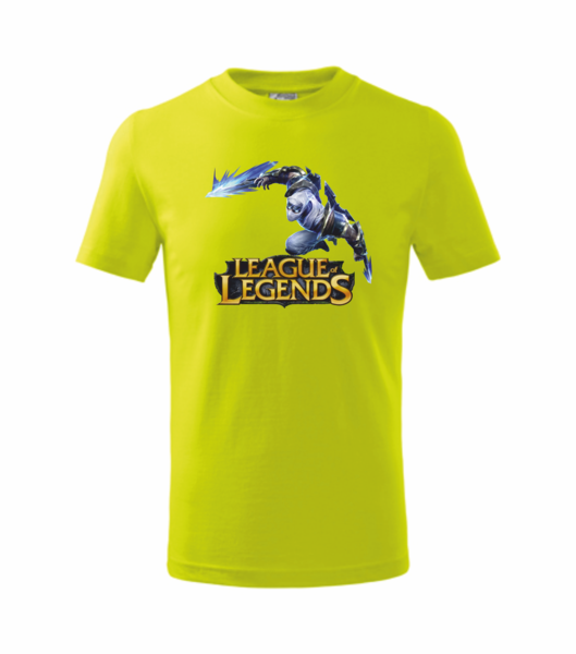 Tričko League of legends 3 XL limetková