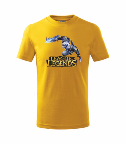 Tričko League of legends 3 XL žlutá