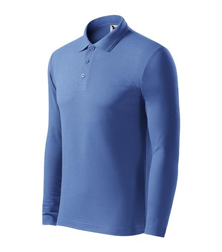 Pánská polokošile Pique Polo L azurově modrá