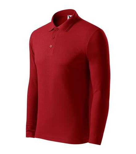Pánská polokošile Pique Polo L červená