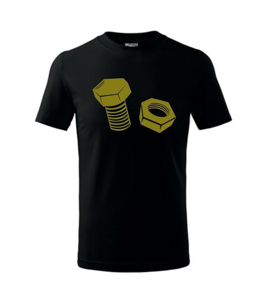 dětské tričko Šroub a matice černá 146