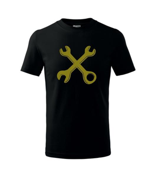 dětské tričko Zkřížené klíče černá 134