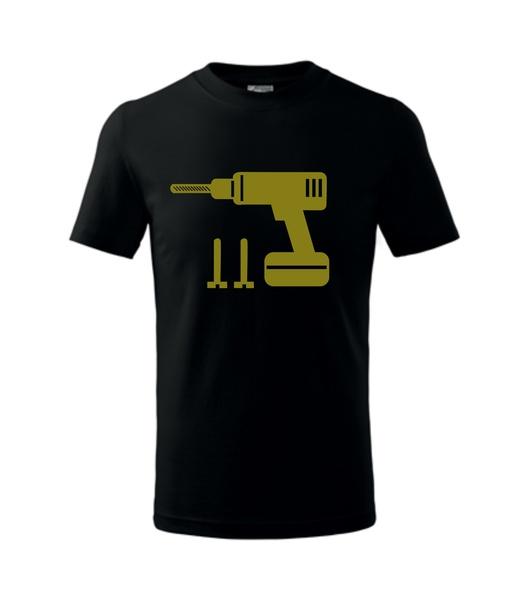 dětské tričko Vrtačka černá 134