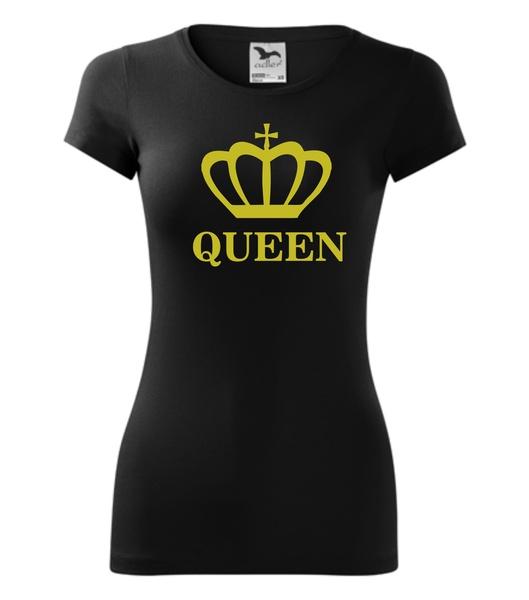 Tričko QUEEN černé XL ZLATÁ