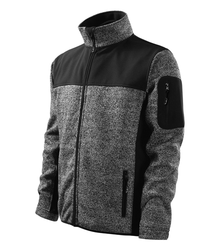 Softshellová bunda CASUAL XXXL knit grey