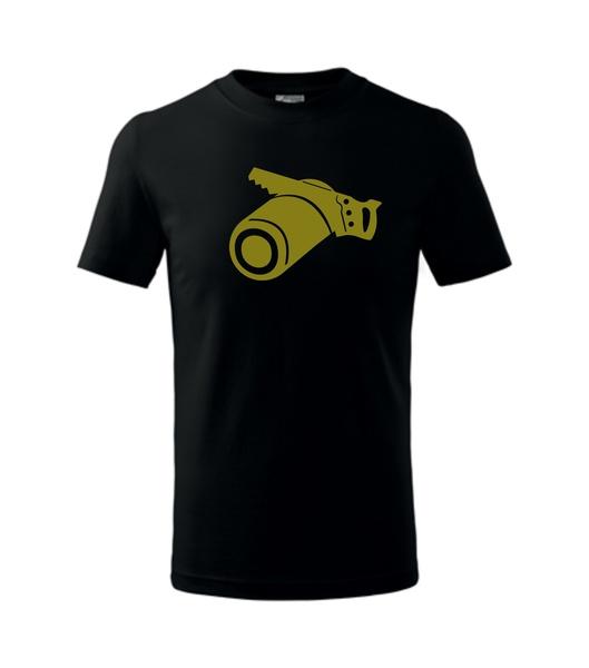 dětské tričko Tesař černá 134
