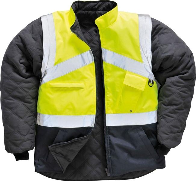 Reflexní oboustranná bunda XL reflexní žlutá
