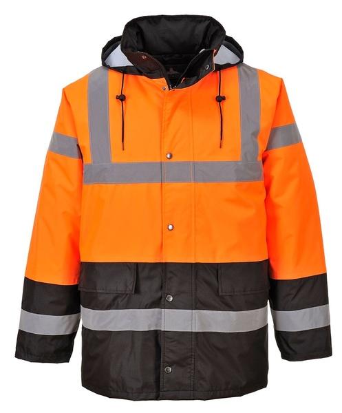 Dvoubarevná reflexní bunda reflexní oranžová L