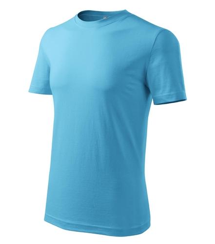 Tričko pánské barevné L tyrkysová
