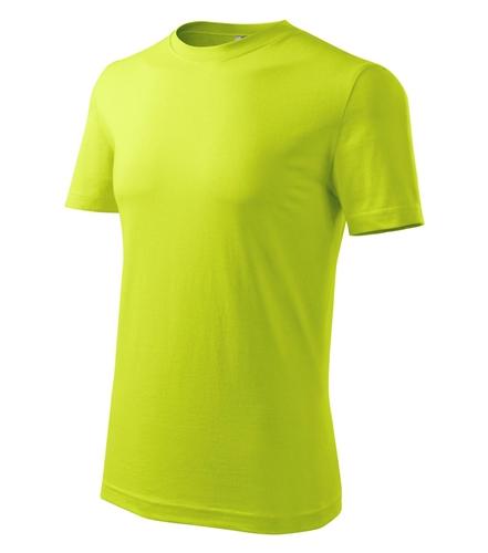 Tričko pánské barevné L limetková