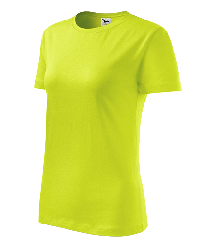 Tričko dámské barevné CLASSIC NEW XL limetková