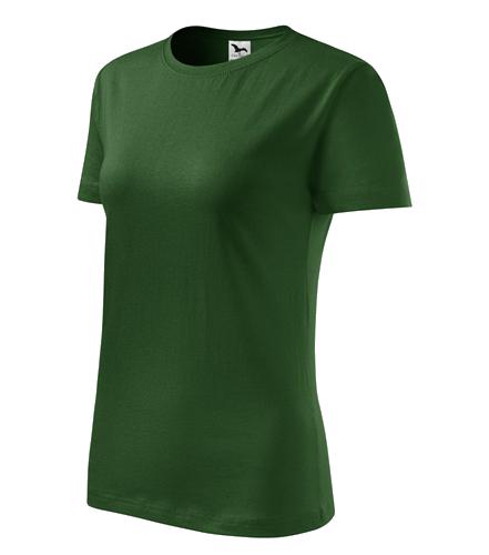 Tričko dámské barevné CLASSIC NEW M lahvově zelená