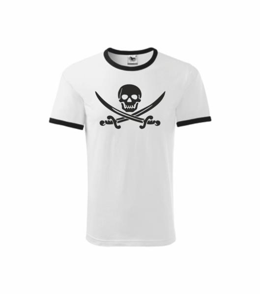 Pirátské dětské tričko bílá 146