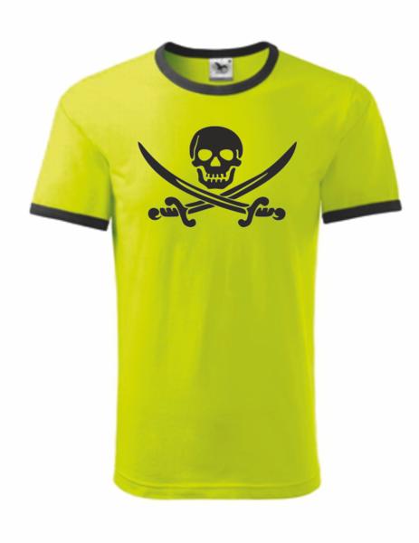 Pirátské dětské tričko limetková 158