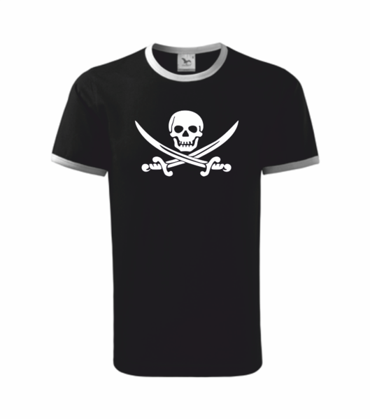 Pirátské dětské tričko černá 110