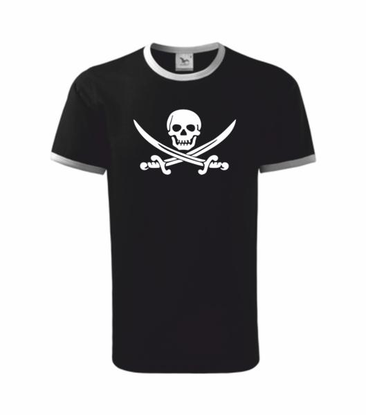 Pirátské dětské tričko černá 134