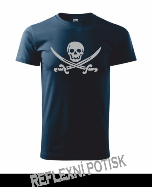Pirátské dětské tričko námořní modrá 146