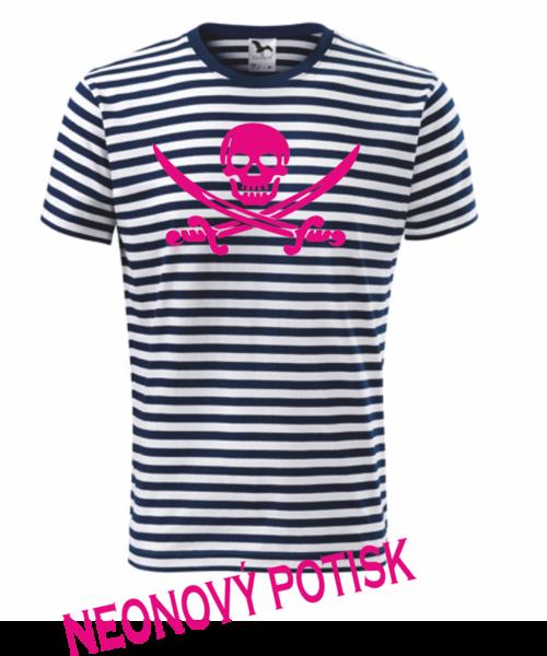Pirátské dětské tričko modrá 134