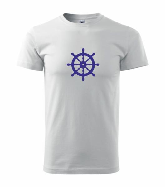 Pruhované dětské tričko s kormidlem bílá 134