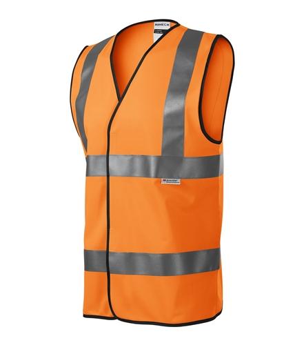 Bezpečnostní vesta unisex M reflexní oranžová