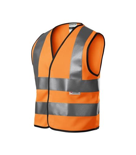 Dětská bezpečnostní vesta unisex reflexní oranžová 134