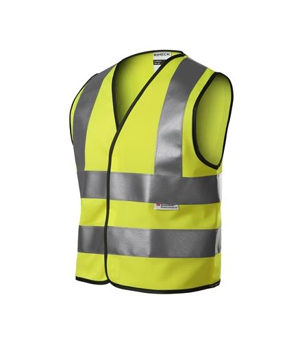 Dětská bezpečnostní vesta unisex reflexní žlutá 134