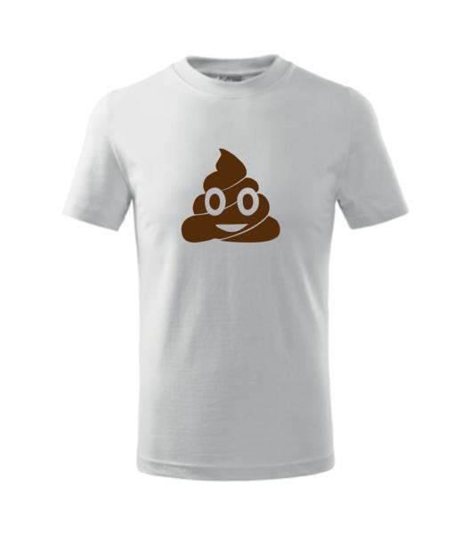 Tričko Emoji 158/12 let bílá