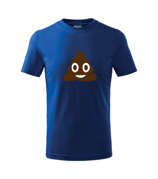 Tričko Emoji 158/12 let královská modrá