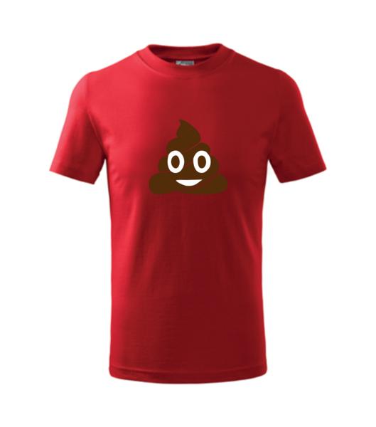 Tričko Emoji 158/12 let červená