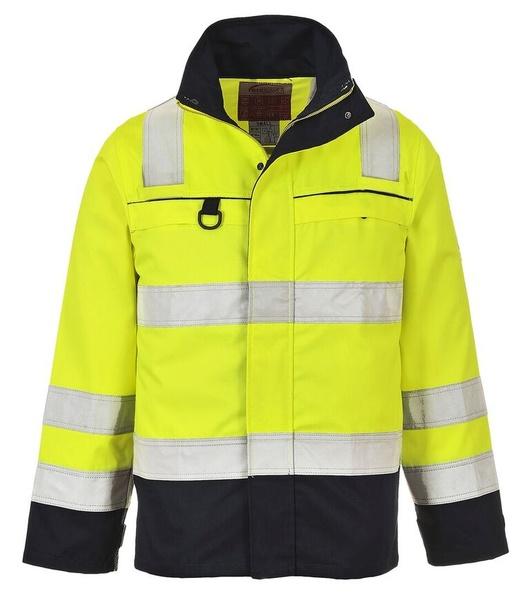 Nehořlavá reflexní bunda XXXL neon yellow