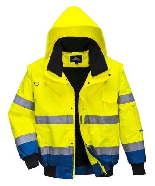 Bunda Bomber Hi-Vis Contrast S neon yellow