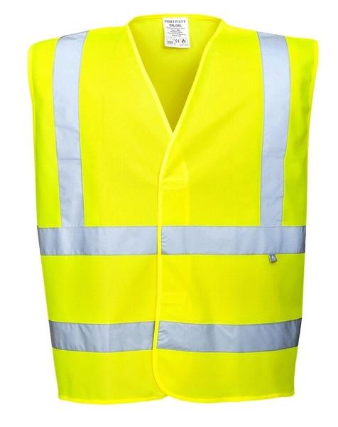 Nehořlavá reflexní vesta neon yellow