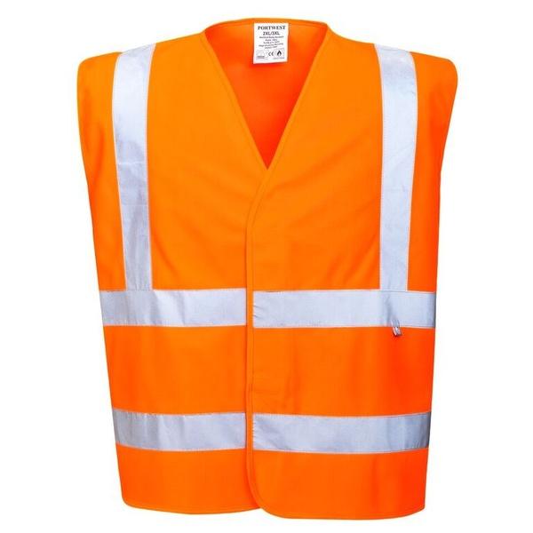 Nehořlavá reflexní vesta neon orange