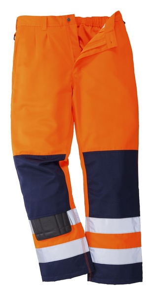 Kalhoty pracovní reflex M neon orange