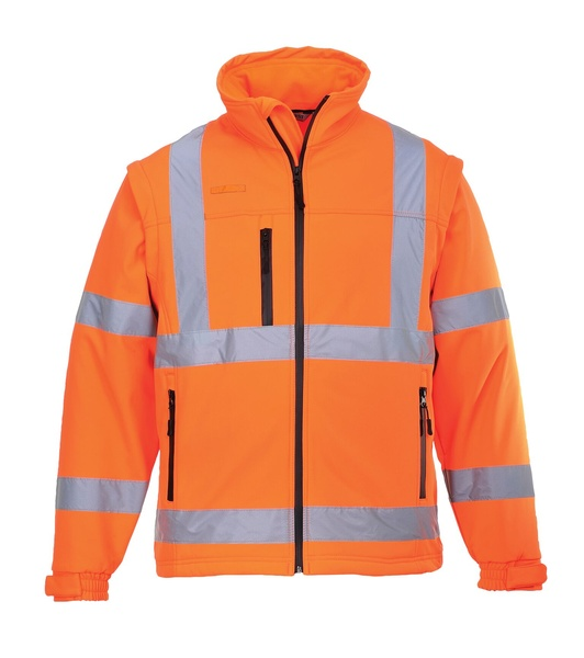Hi-Vis softshelová bunda M neon orange