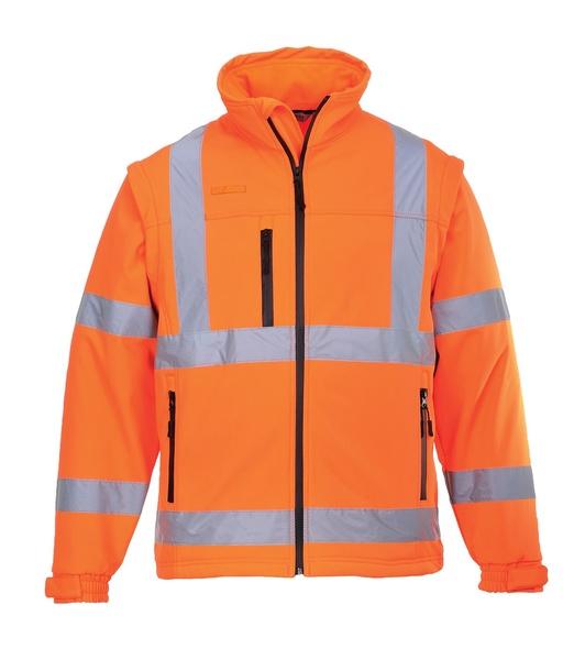 Hi-Vis softshelová bunda L neon orange