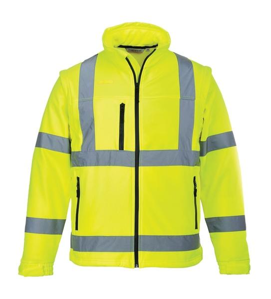 Hi-Vis softshelová bunda L neon yellow
