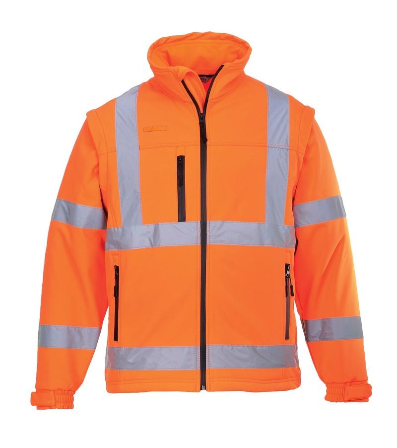Hi-Vis softshelová bunda 4XL neon orange