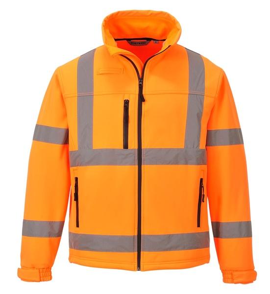 Softshelová bunda Hi-Vis Classic XXXL neon orange