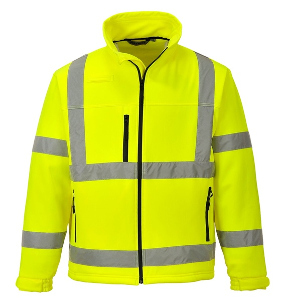 Softshelová bunda Hi-Vis Classic L neon yellow