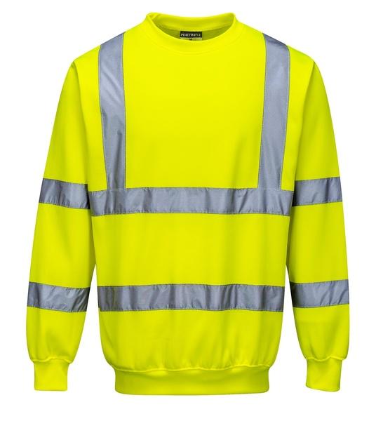 Reflexní mikina XXL neon yellow