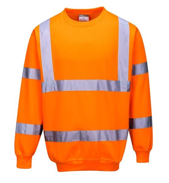 Reflexní mikina XXL neon orange