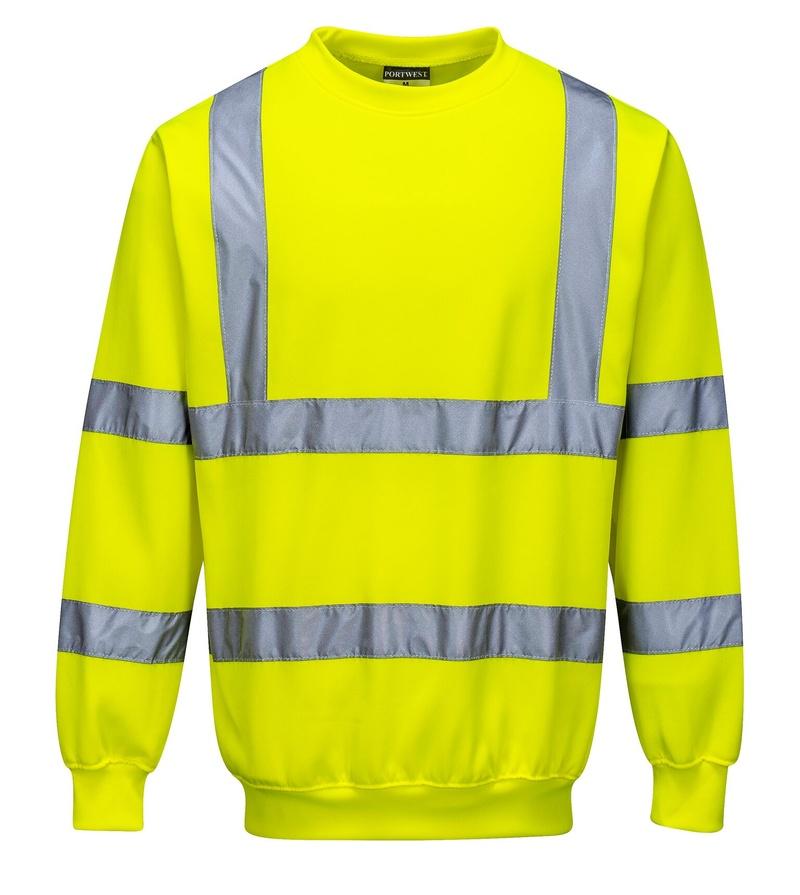 Reflexní mikina 5XL neon yellow