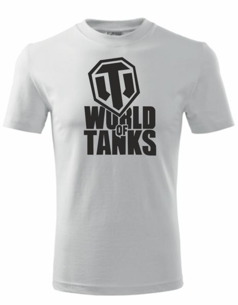 dětské tričko World of tanks bílá 158