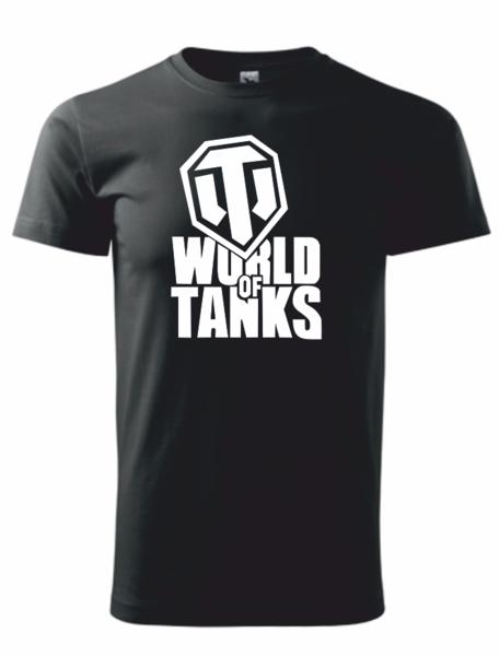 dětské tričko World of tanks černá 158