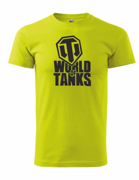 dětské tričko World of tanks limetková 158