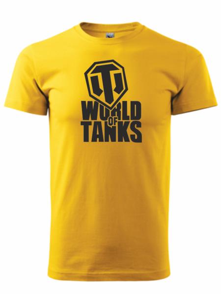 dětské tričko World of tanks žlutá 158